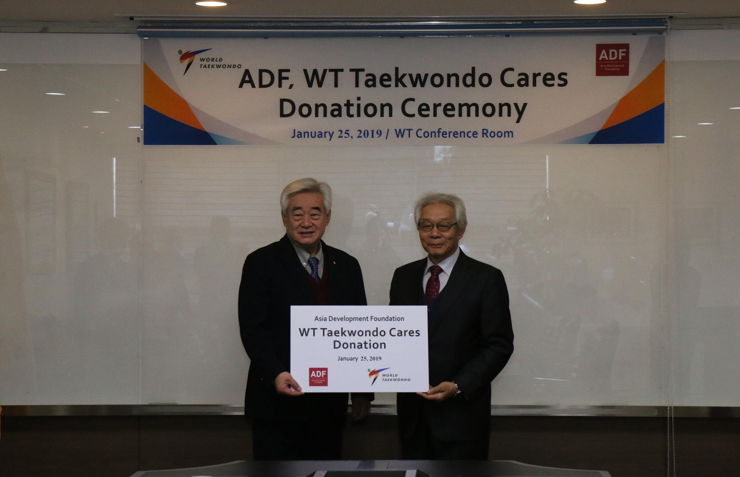 ADF Delivers WT $90,000 in Designated Donation
